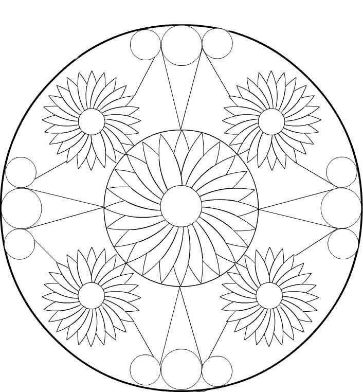 Mandala 14 Ausmalbilder | resimler | Pinterest | Mandala ...