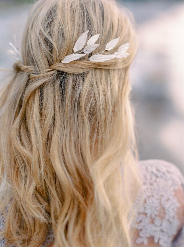 Photo of Easy wedding hairstyle according to the length of hair to be …
