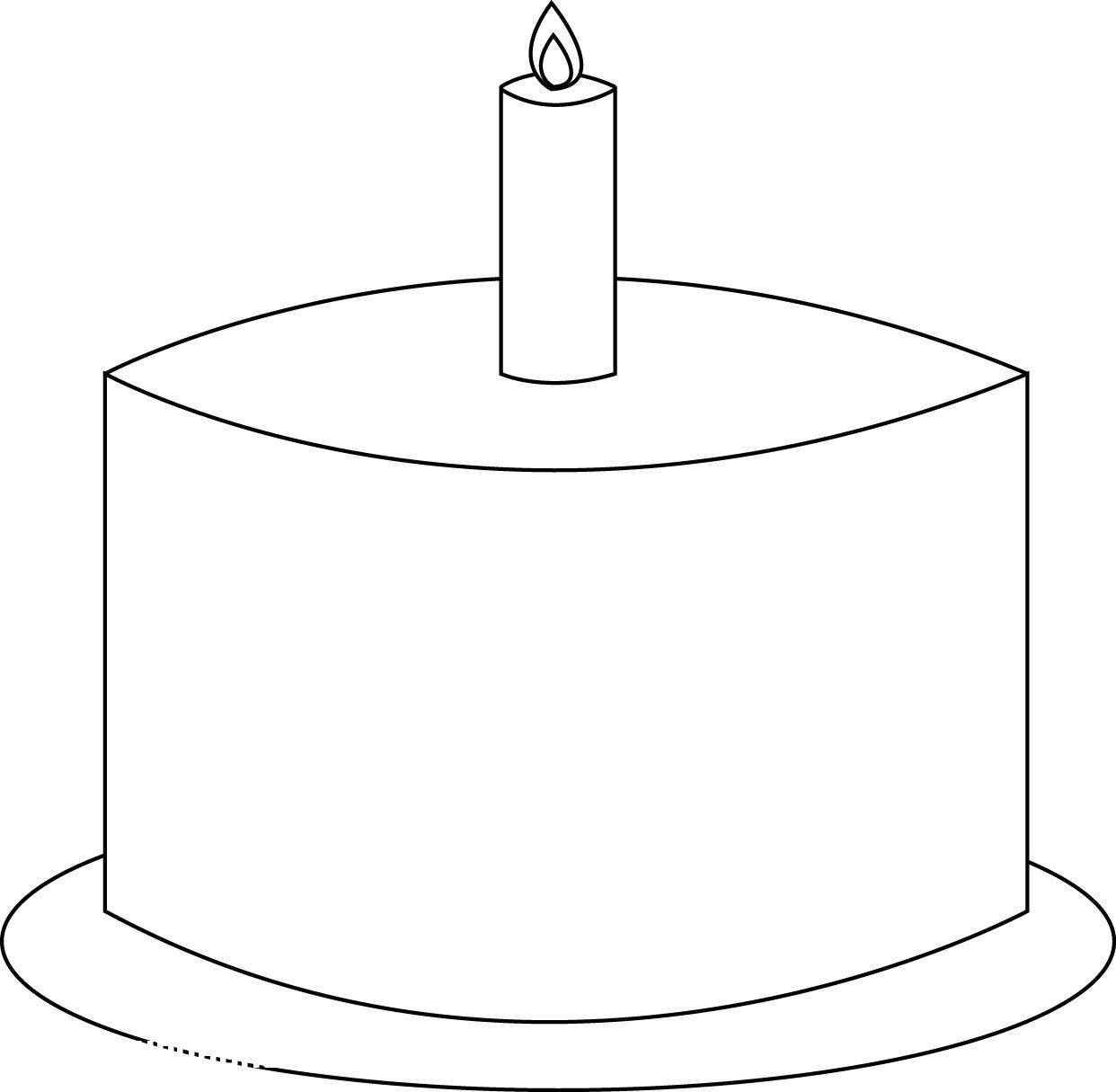 Free Printable Birthday Cake Coloring Pages For Kids Birthday ...