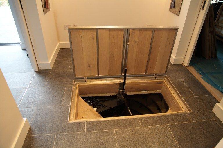 Motorised Door Recessed For Tiles Cellar Door Cellar