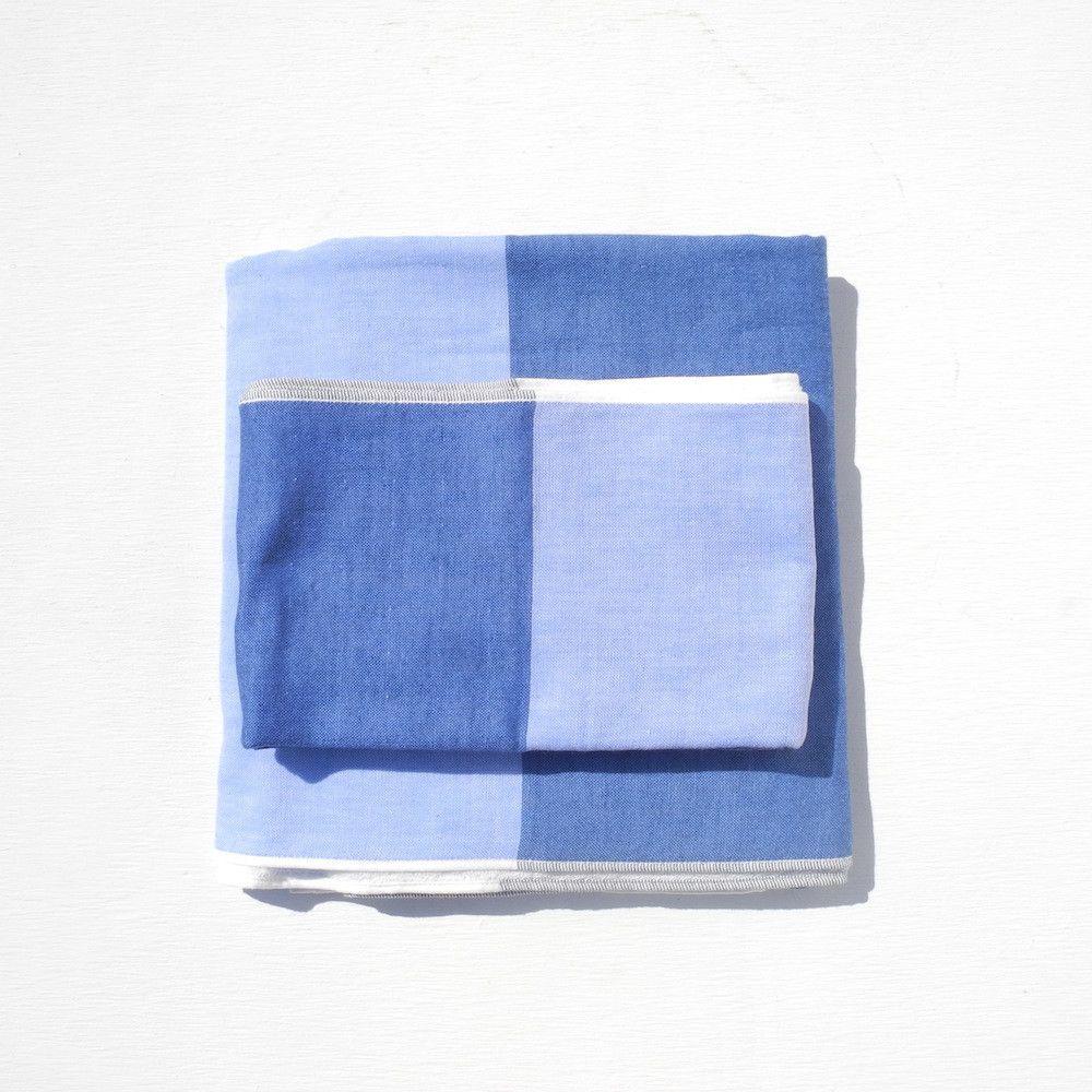 Yoshii Two Tone Chambray Bath Towel, blue | Towels, Bath and ...