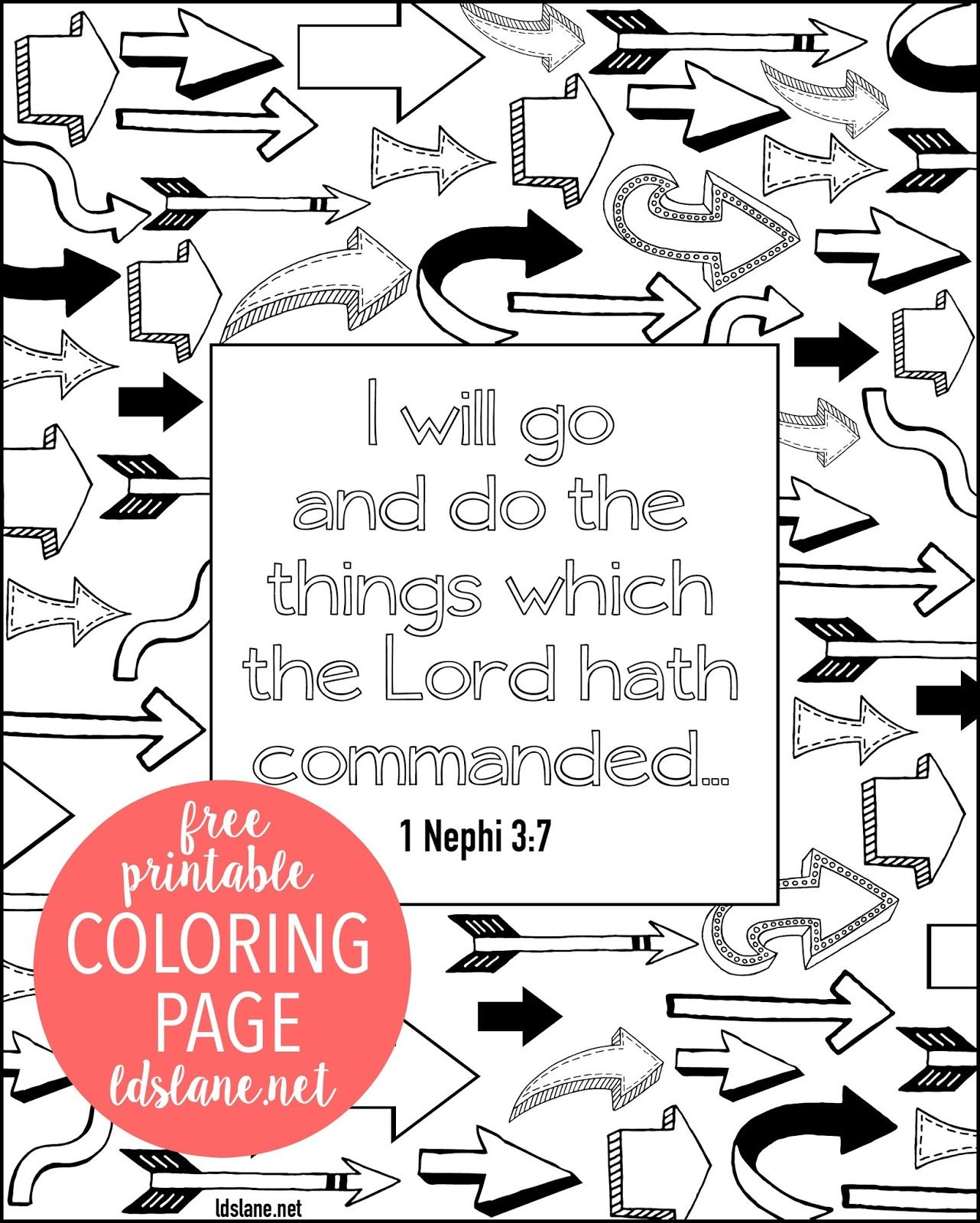 I Will Go And Do Scripture Coloring Page By Ldslane