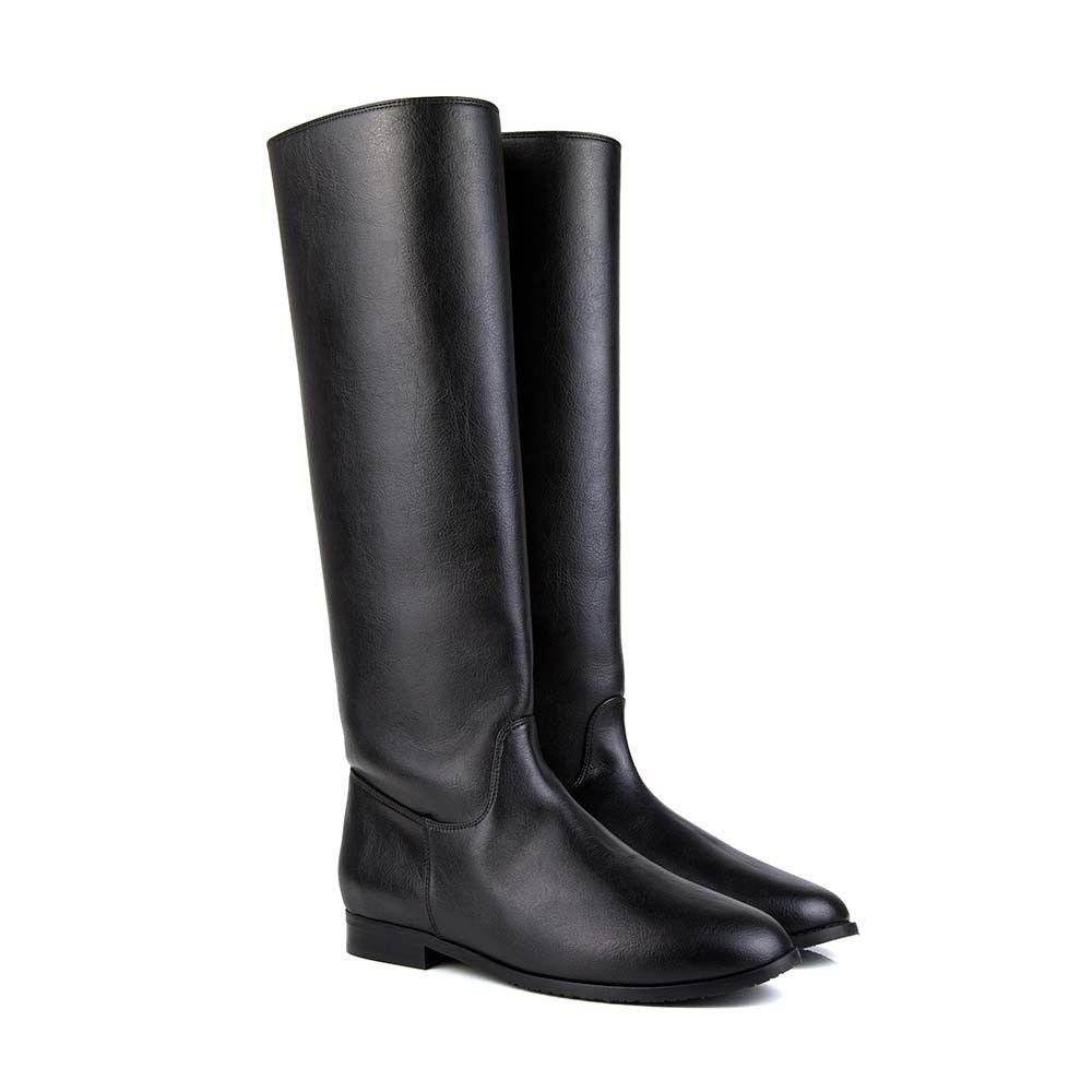 8180d399b2a9 Laurie B Black Knee High Vegan Boots