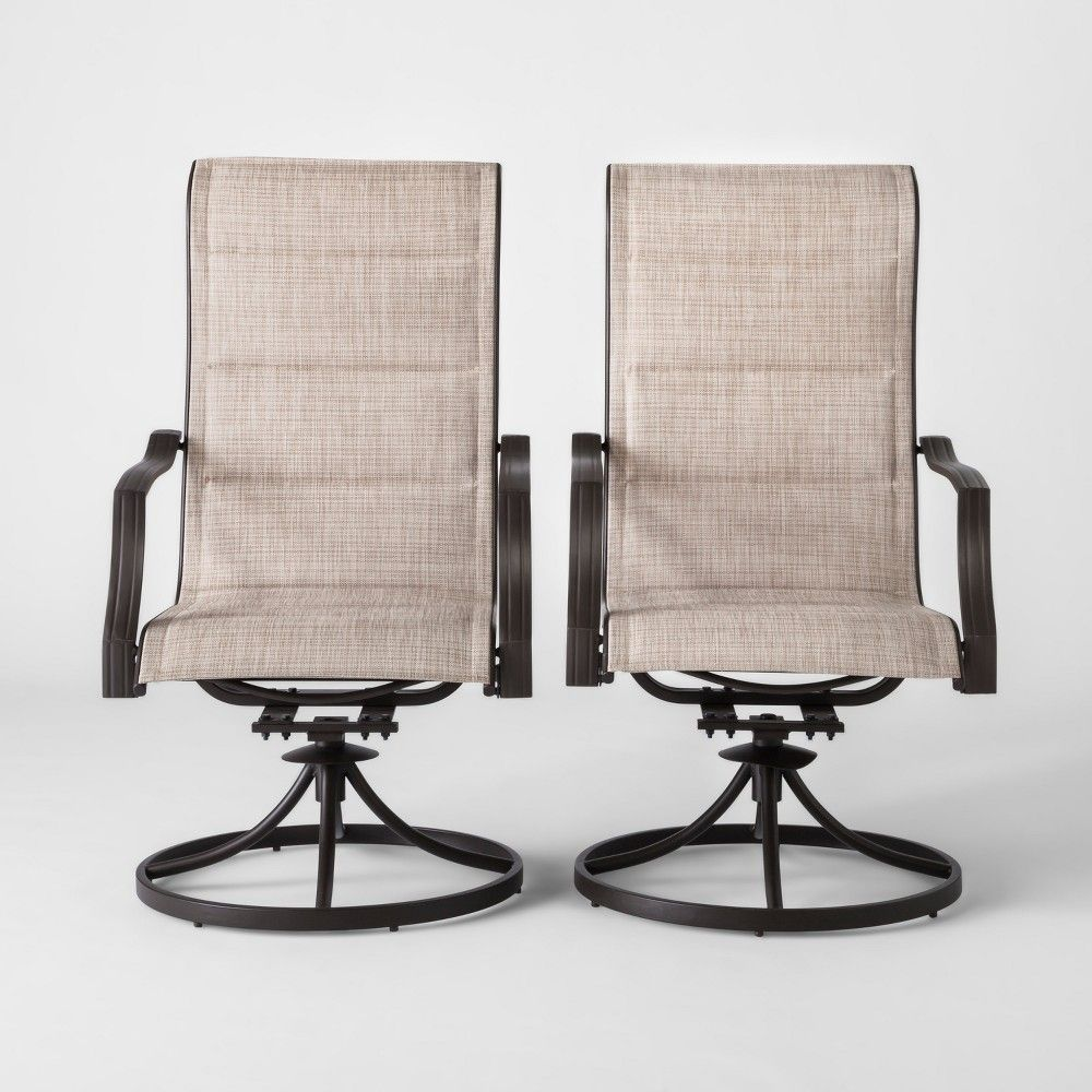 Target Sling Chair Tan Lotus Meditation Uk Marrion 2pk Swivel Rocker Patio Dining Threshold