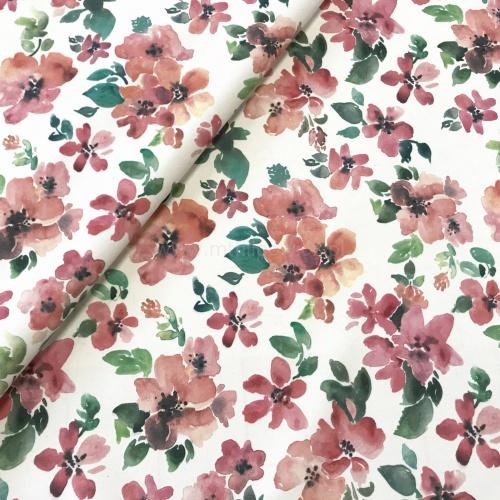 Tkanina Obiciowa Flore Rozowe Kwiaty Na Bawelnie Floral Floral Skirt