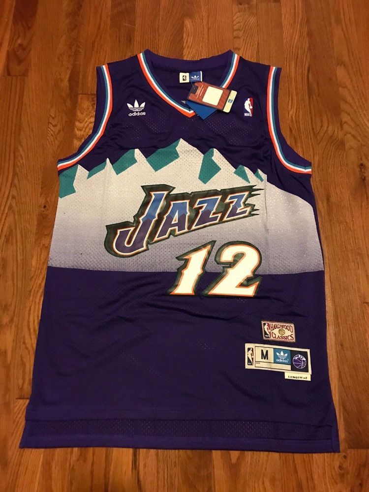 c81d111a3 Utah Jazz John Stockton Purple 12 Throwback Classic Swingman Men Jersey   UtahJazz