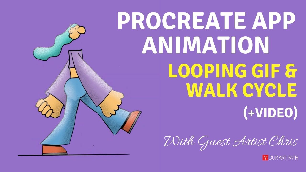 Procreate Animation on iPad Looping & Walk Cycle