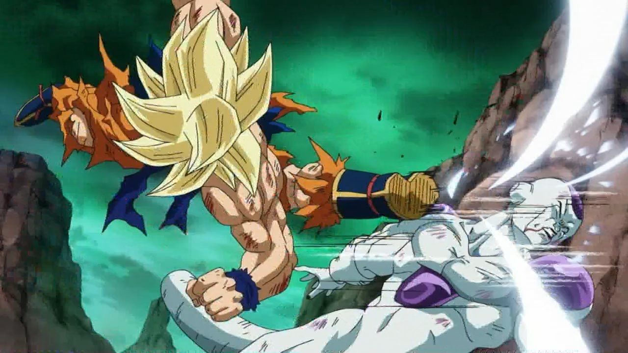 Goku Ssaiyanjin Vs Freezer Dibujos Dragones Dragon Ball
