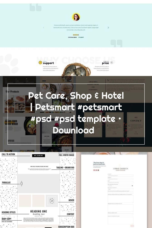 Pet Care Shop Hotel Petsmart Petsmart Psd Psd Template Download In 2020 Website Layout Pet Care Templates
