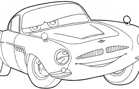 Disney Cars 2 Finn Mcmissile Coloring Pages Disney Embroidery Step By Step Drawing Disney Cars