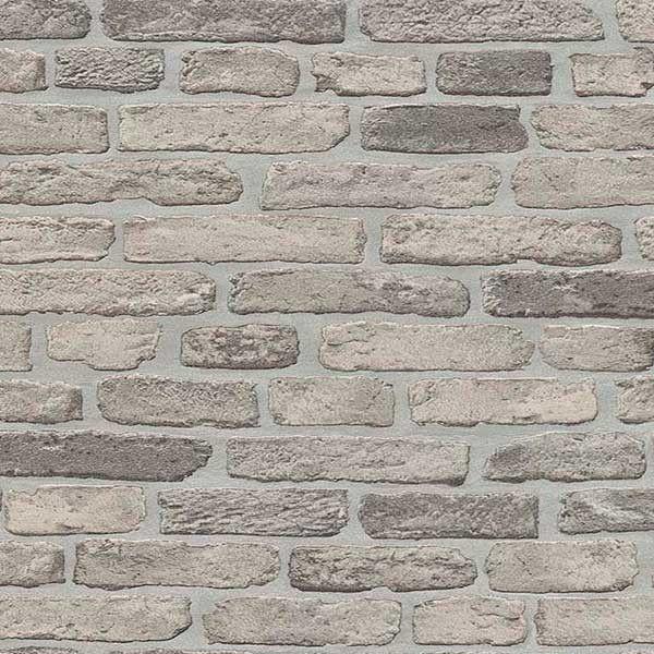 Papel pintado imitaci n muro de piedra gris desgastada for Papel pintado imitacion ladrillo barato