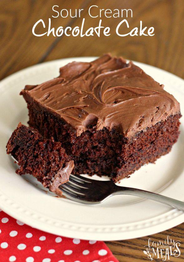 Sour Cream Chocolate Cake Totally Decadent Totally Worth It Cake Sourcream Chocolate Chocolatecake With Images Sour Cream Chocolate Cake Cake Recipes Savoury Cake