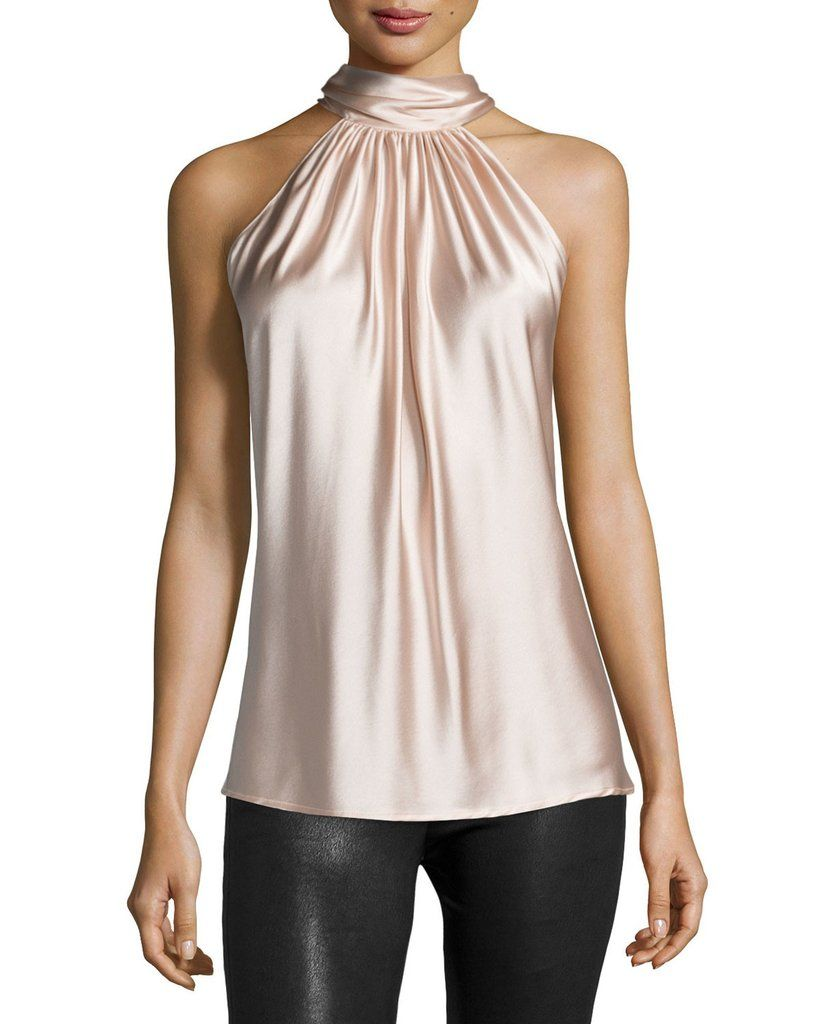34da0528f1eb24 Amazing Silky soft Satin Neck Halter Blouse, Satin Blouse, women's top - Betty  Abyssinia
