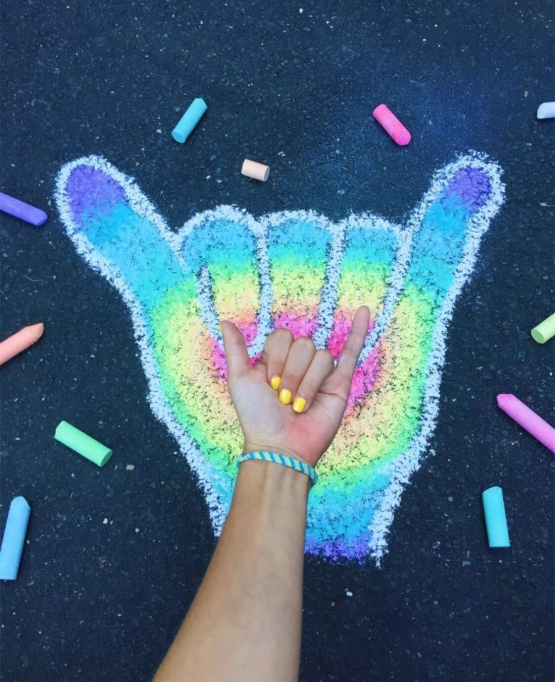 Vsco Vedabalte Sidewalk Chalk Art Chalk Art Chalk Drawings