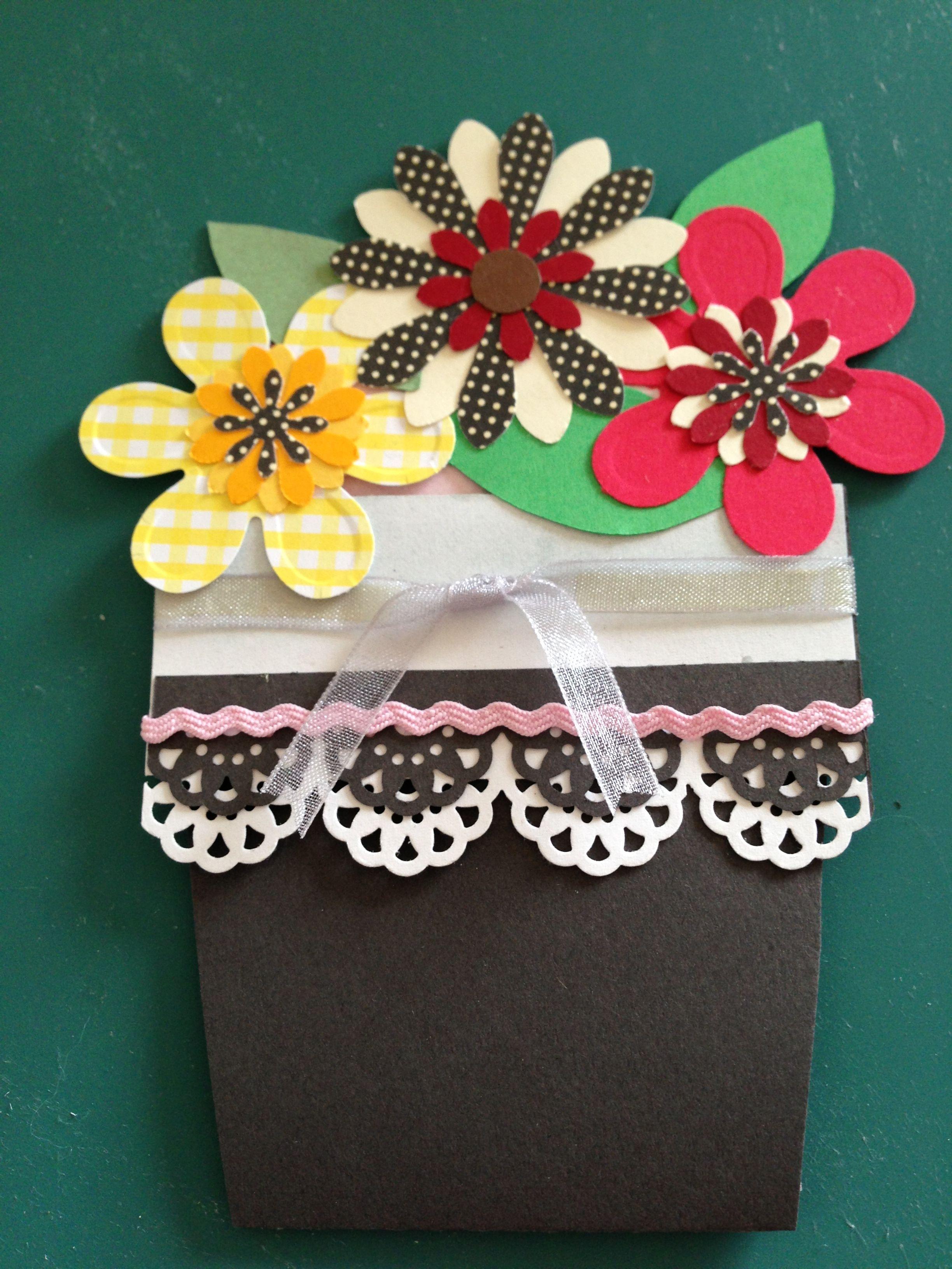 Flower Pot Card My Paper Craft Pinterest Parchment Craft And