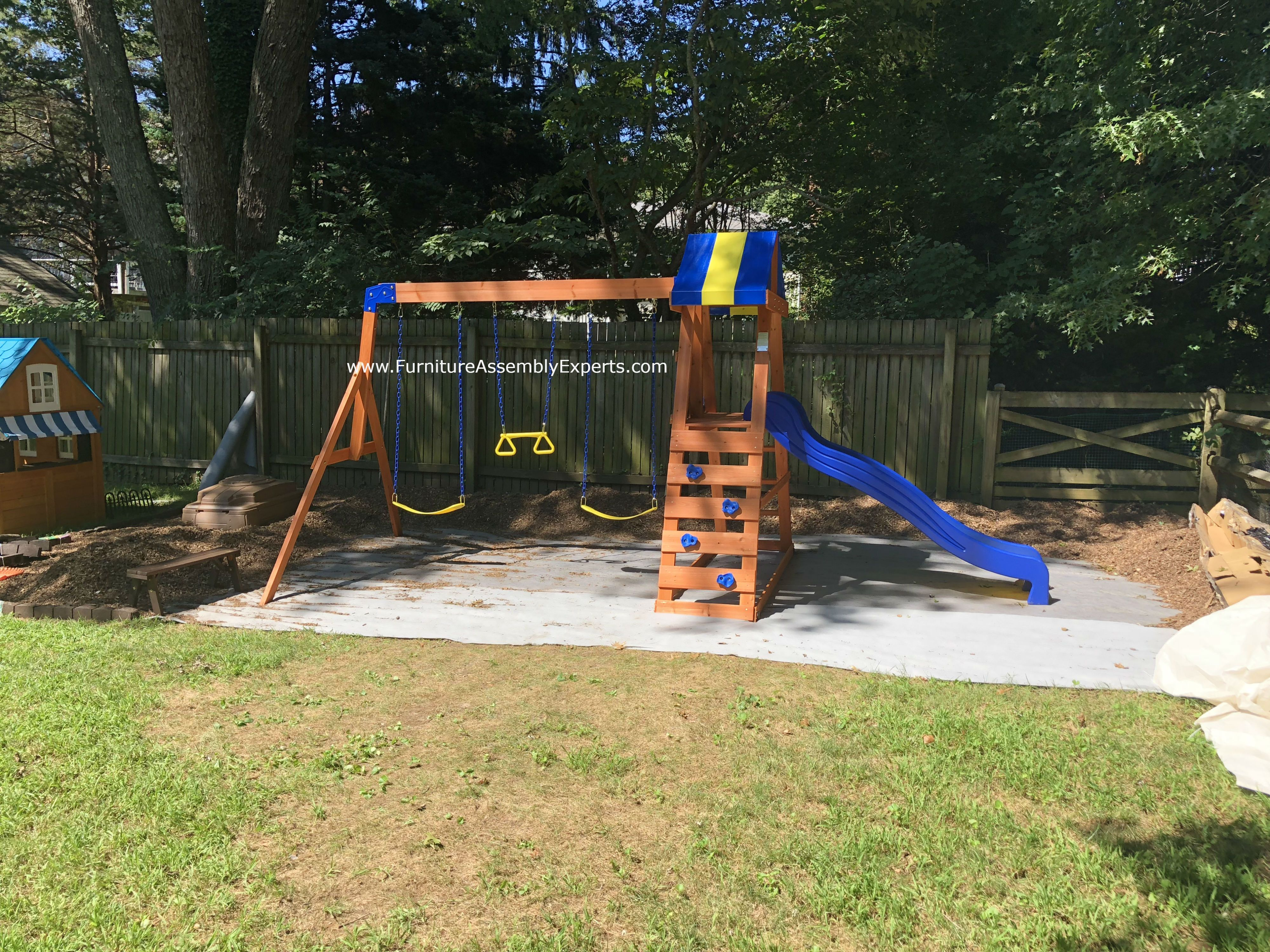 Swing Set Moving And Installation Completed For A Customer In Glen
