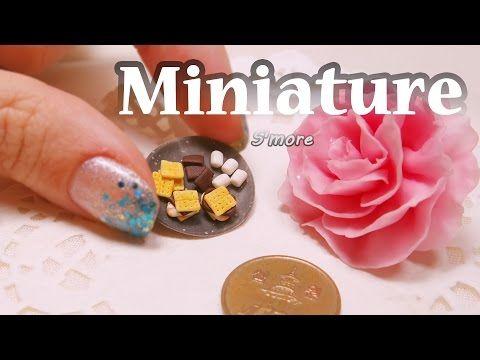 미니어쳐 스모어 만들기 Miniature * S'more - YouTube