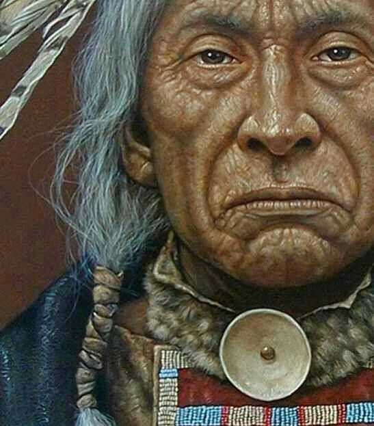 Native American Older Man, Painting