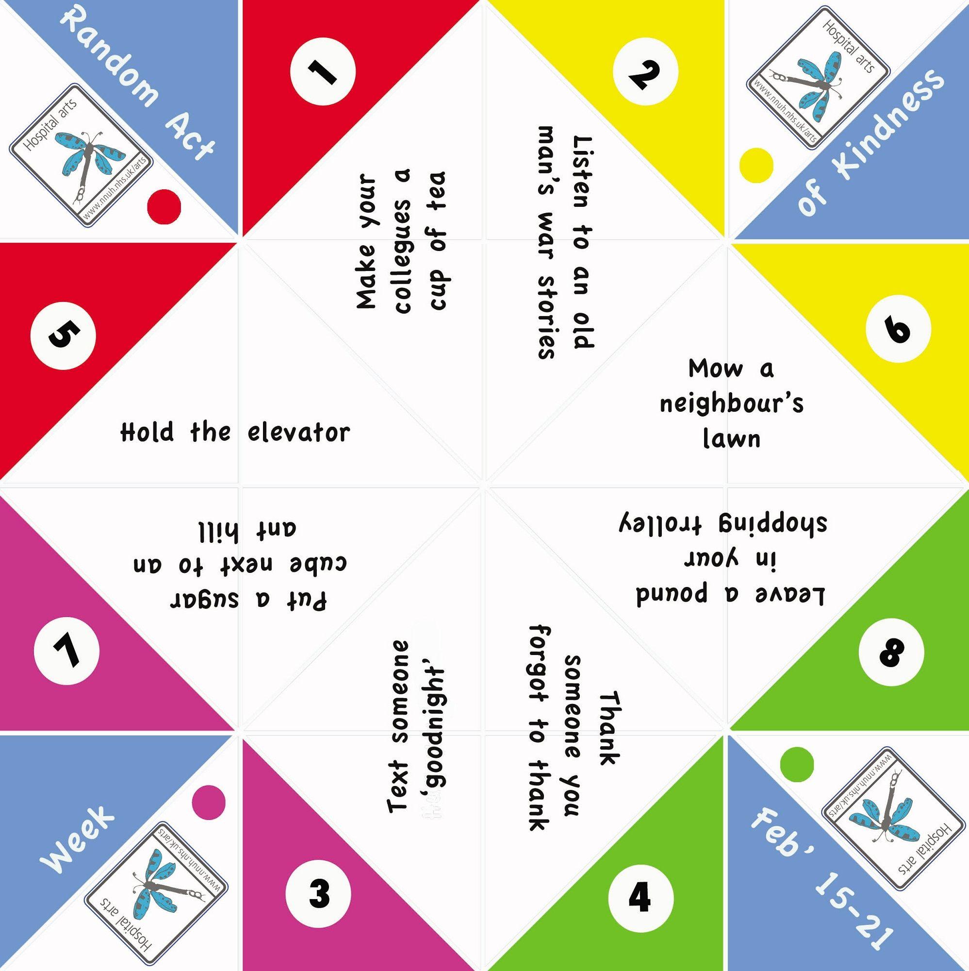 Fortune Teller Paper Game