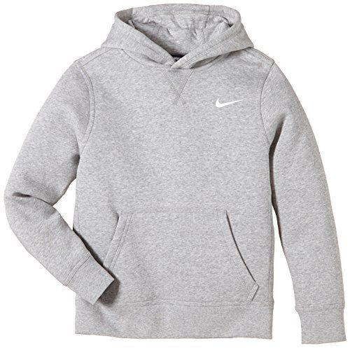 Nike Brushed Sweat Shirt à Capuche Garçon Dark Grey Heatherwhite Fr