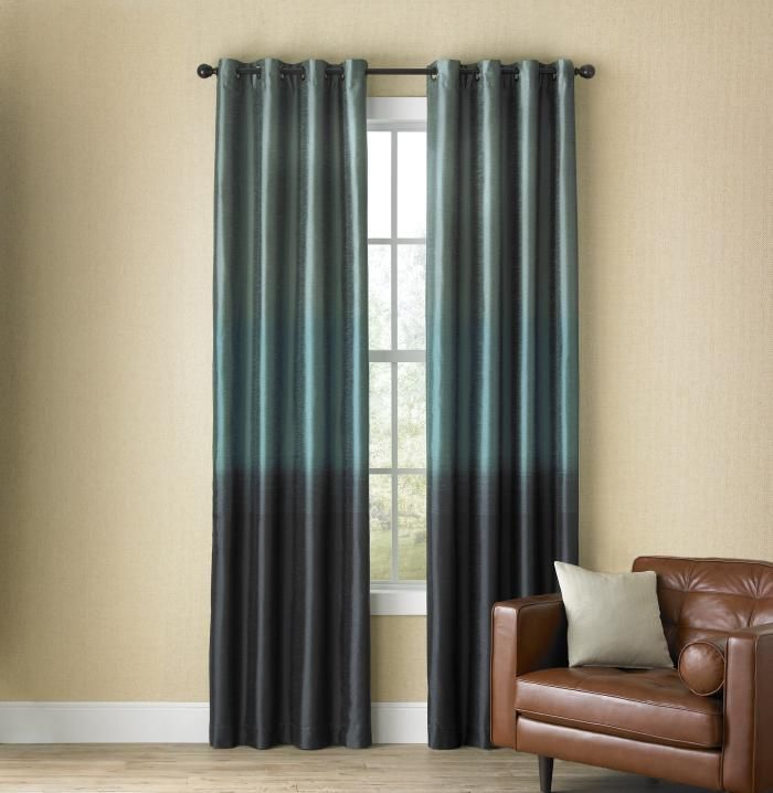Studio Dylan Ombre Grommet Top Panel In Imperial Teal 731 0443 House Interior My Home Design