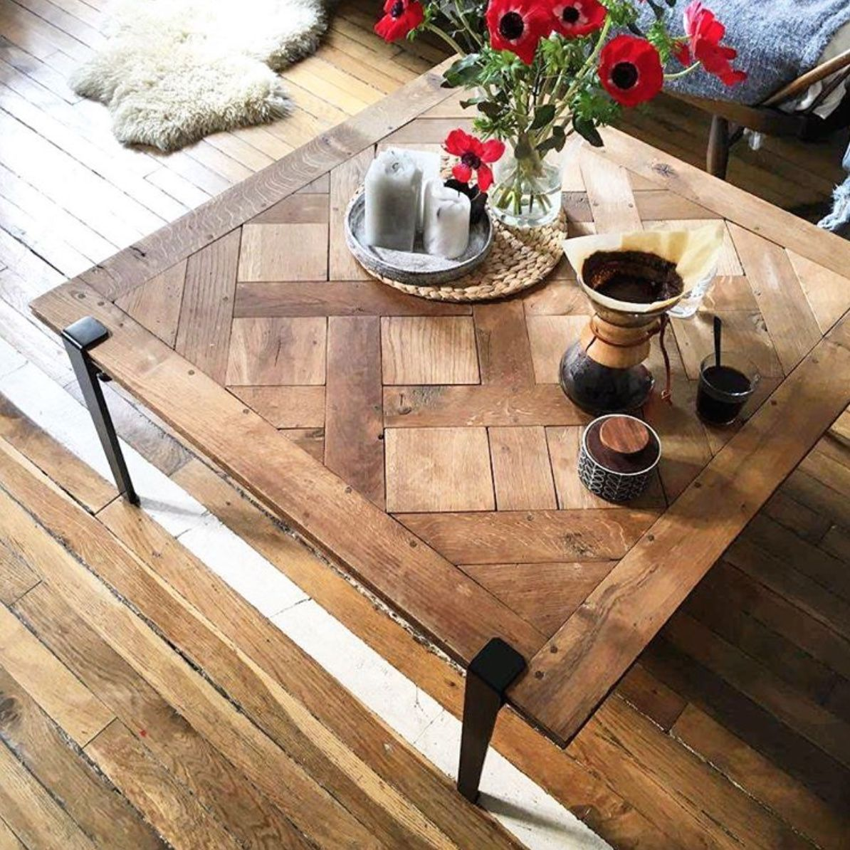 Pied De Table Basse Modulable Tiptoe Livraison Rapide Serre Joint Living Room Coffee Table Coffee Table Design Coffee Table