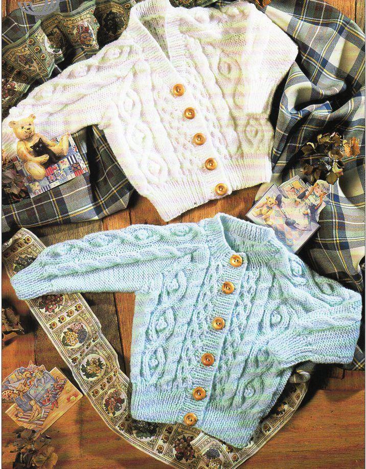 Pin on Vintage Baby & Children aran knitting patterns ...