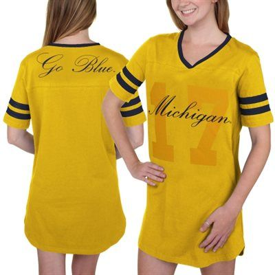 watch f0ac3 f90f9 Michigan Wolverines Women's Script Football Jersey Night ...