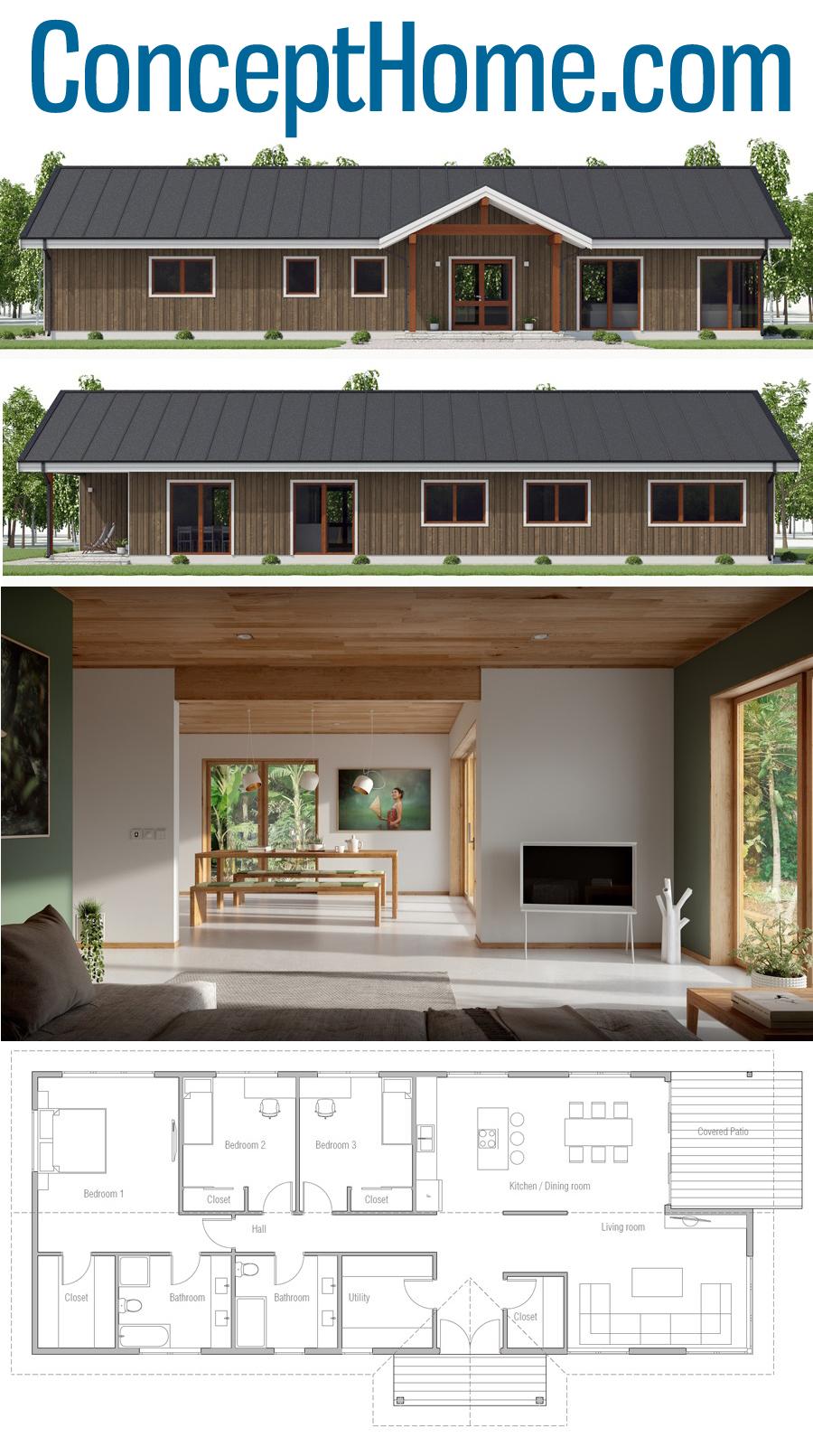 Small House Plan Ch530 House Plans Building A House House Blueprints