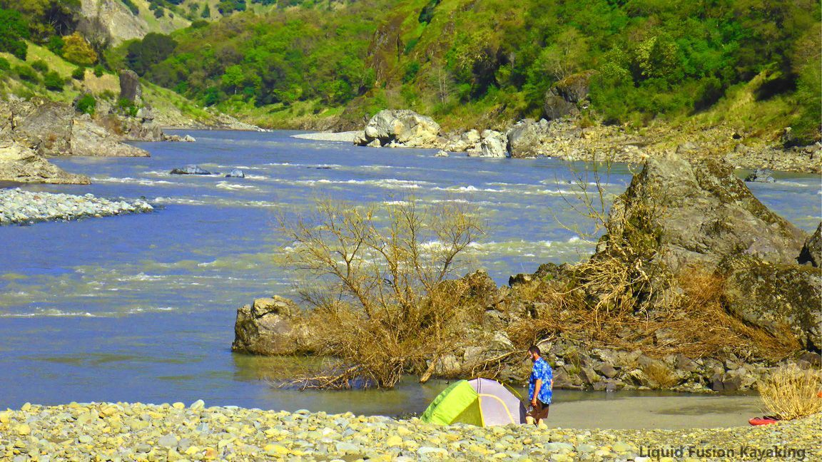 Photo of Kayak Camping on the Eel River –  Whitewater kayak camping trip on the Eel River…