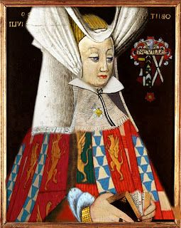 Queen consort to Richard III, Anne Neville. 1456-1485, at a guess, a modern interpretation