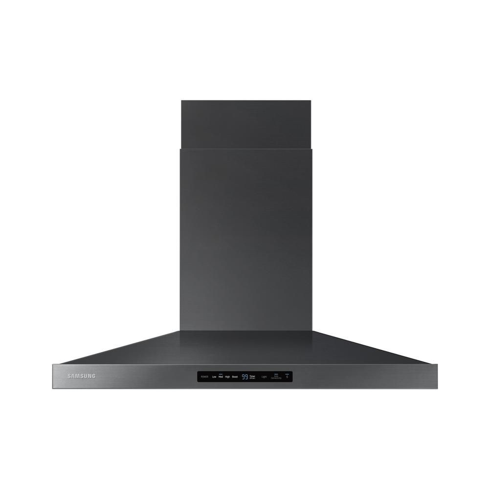 Samsung 36 In Wall Mount Range Hood Touch Controls Bluetooth Connected Led Lighting In Wall Mount Range Hood Range Hood Black Stainless Steel
