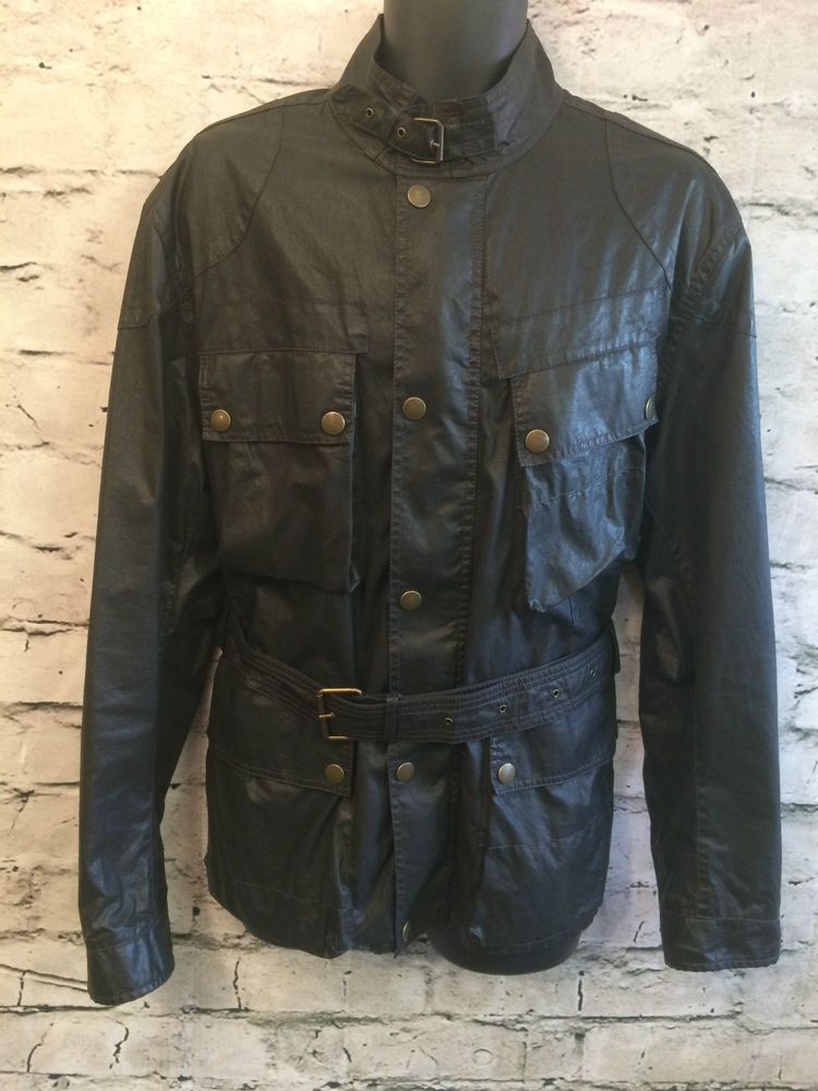 068d974394f STUNNING BELSTAFF BLACK PRINCE SAMMY MILLER JACKET UK EXTRA LARGE CHEST 48