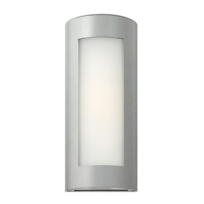 Hinkley Lighting Solara 1 Light Outdoor Flush Mount Finish: Titanium, Bulb Type: Incandescent