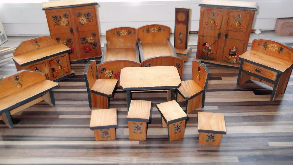puppenstube m bel alte bauernm bel mit alter bemalung ebay folk bauernm bel for the. Black Bedroom Furniture Sets. Home Design Ideas