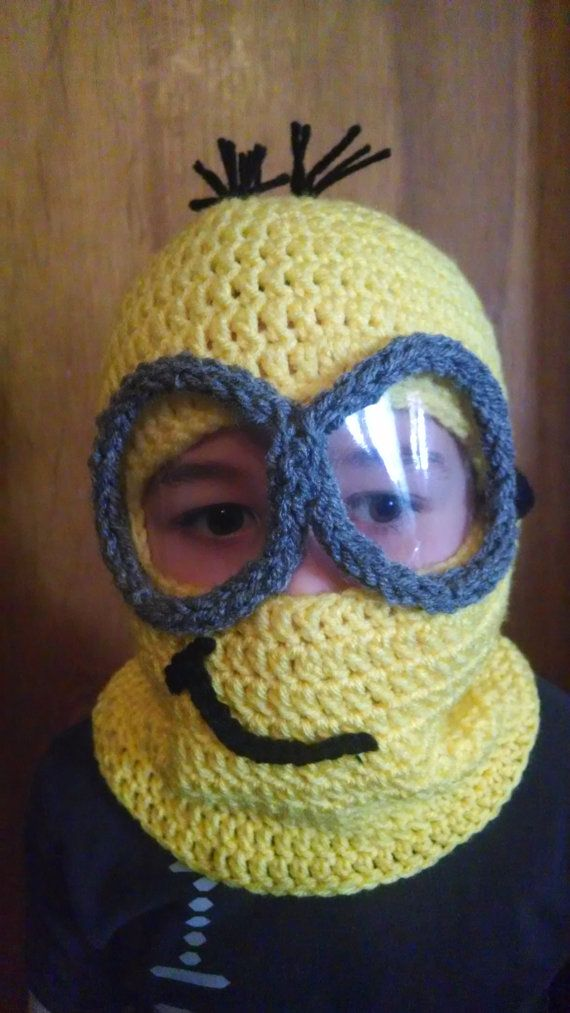 Crochet Minion Mask with Detachable Goggles by bweardesigns | My ...