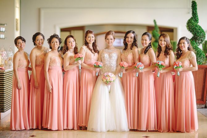 Ace Rissa Wedding Entourage Gowns