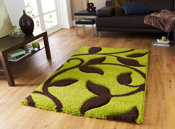 Large Light Green Rugs Thick Lime Chocolate Brown Carving Design Gy Rug