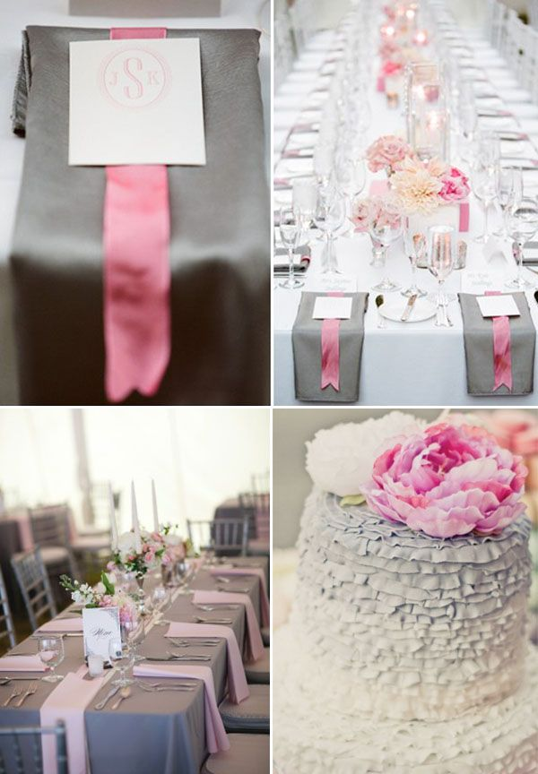 Theme Of Pink And Grey Wedding Decorations Pink And Grey