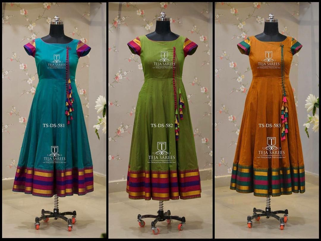 TS-DS- 581,582,583 Available For orders/queries Call/ what's app us on 8341382382 or Mail us tejasarees@yahoo.com #LikeNeverBefore… #saridress