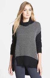 White + Warren Notch Hem Cowl Neck Sweater