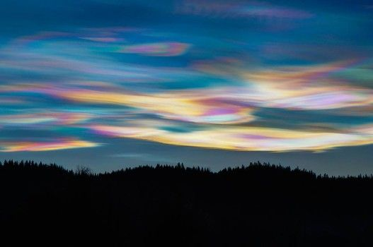 Norwegians refer to these clouds as Perlemorskyer, while Americans call them Polar Stratospheric Clouds or nacreous clouds. (Diana Saaound/ Public Facebook ...