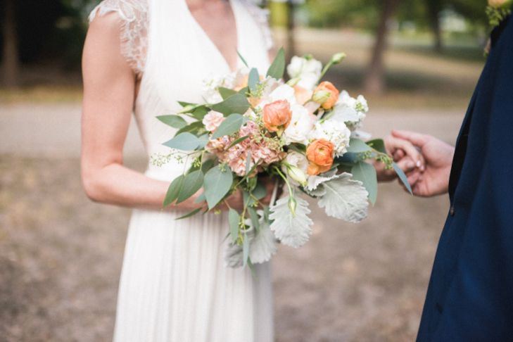 mint and peach wedding bouquet - Google Search