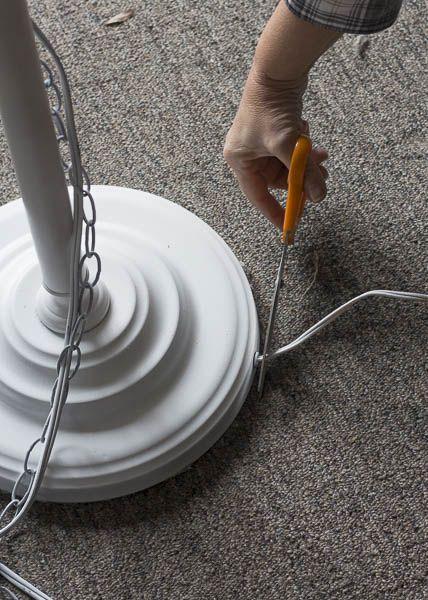 Diy Chandelier Floor Lamp Chandelier Floor Lamp Floor Lamp Makeover Diy Floor Lamp