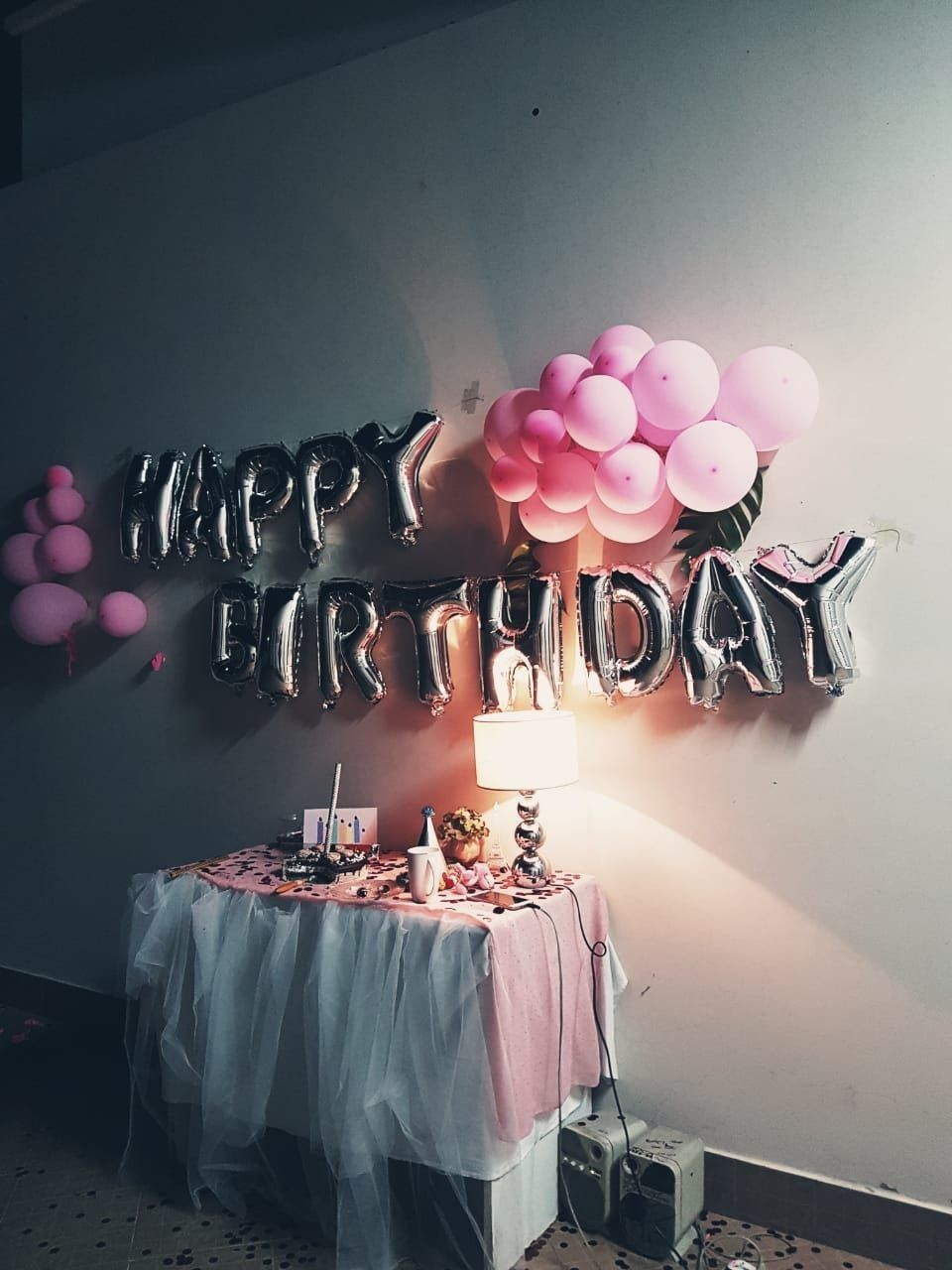 Happy Birthday Birthday Party Decoration Pink Aesthetic Wallpaper Ulang Tahun Ide Dekorasi Ulang Tahun