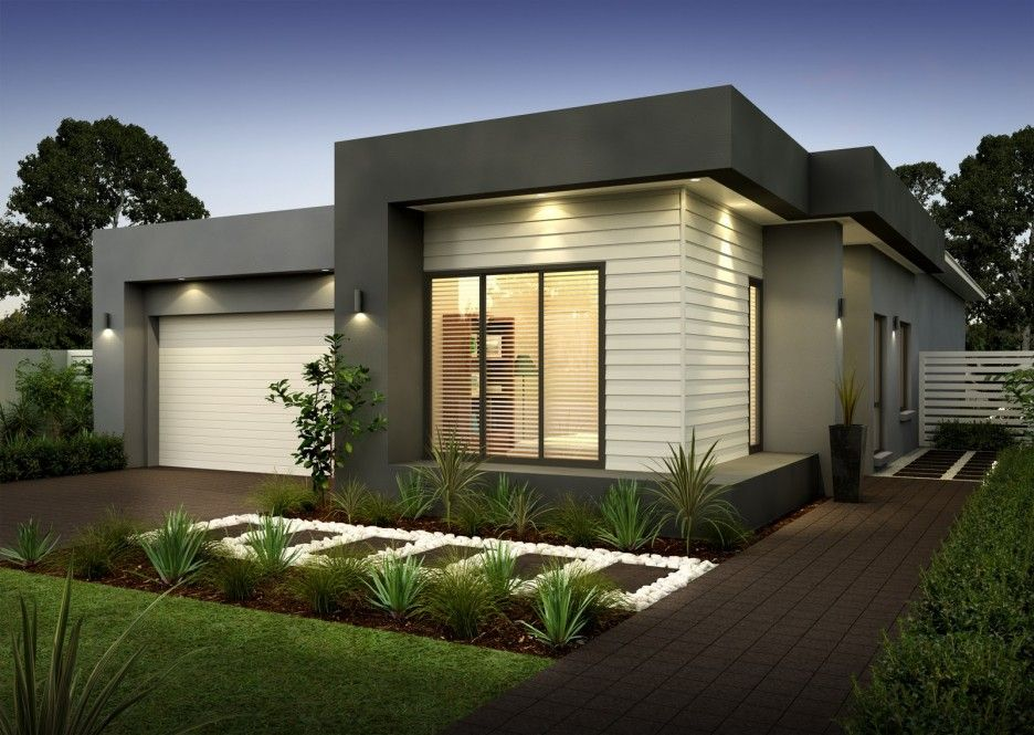 Modern single storey house ideas for open floor plan for Small single story modern house plans