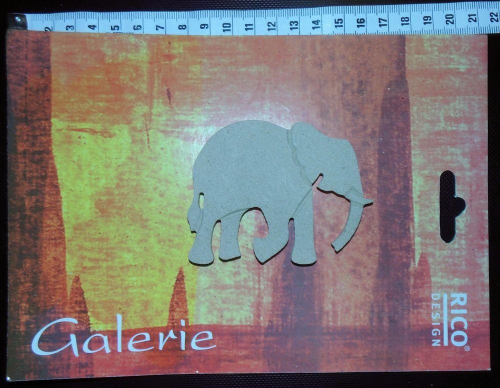 Rico Design Galerie Holzdeko kleiner Elefant