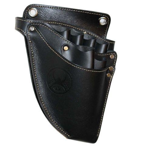 Samurai Hairdressing Hally Scissors Leather Holster Holder Pouch Bag Black Professional