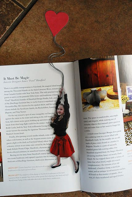 This site has such fun Ideas. I'm just pinning away. #Valentine #bookmark #photo