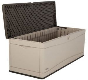 Lifetime Extra Large Deck Box: Weatherproof, Easily Cleaned, Serves As A  Bench Seat